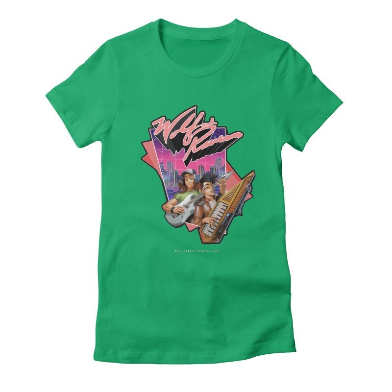 Wolf and Raven 80s Cartoon Women's T-Shirt by Wolf and Raven Artist Shop