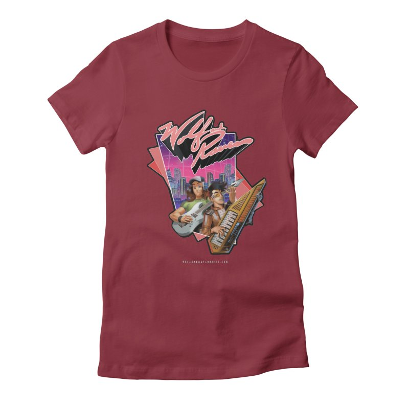 Wolf and Raven 80s Cartoon Women's Fitted T-Shirt by Wolf and Raven Artist Shop