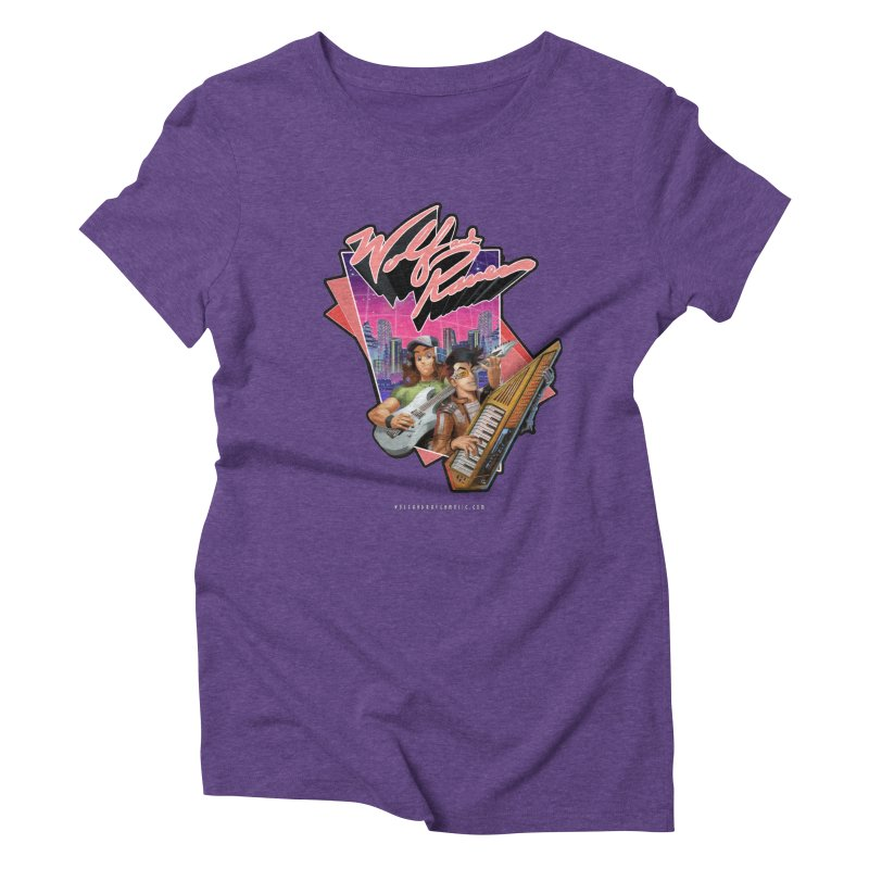 Wolf and Raven 80s Cartoon Women's Triblend T-Shirt by Wolf and Raven Artist Shop