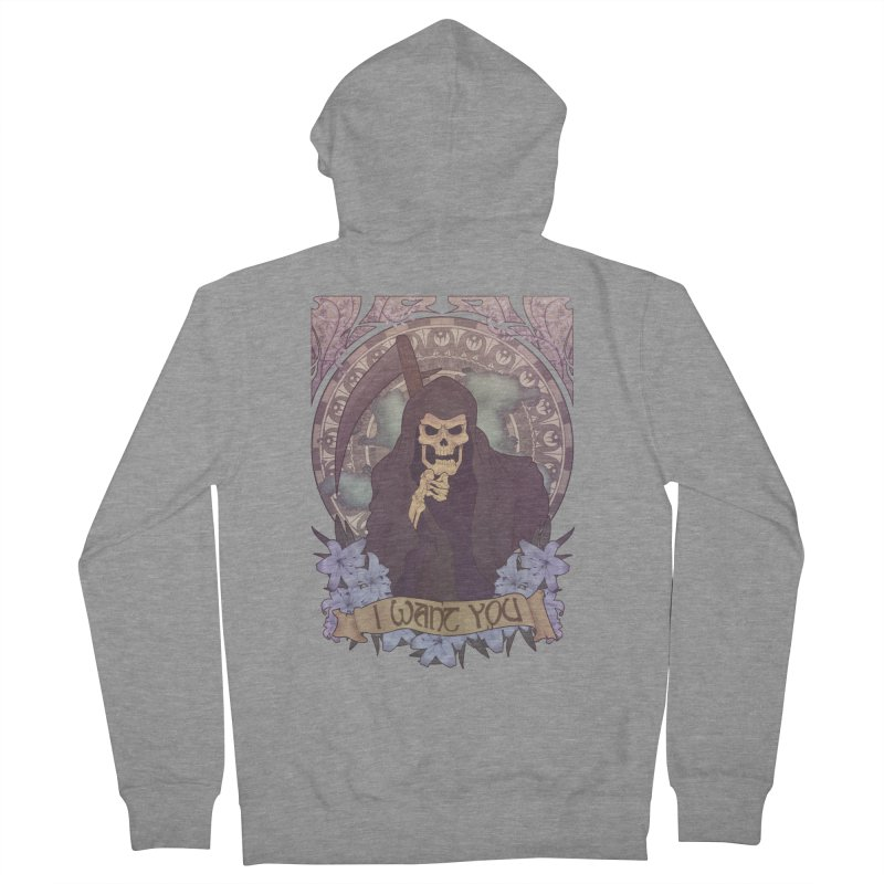 Death Nouveau Women's French Terry Zip-Up Hoody by Wolf Bite Shop