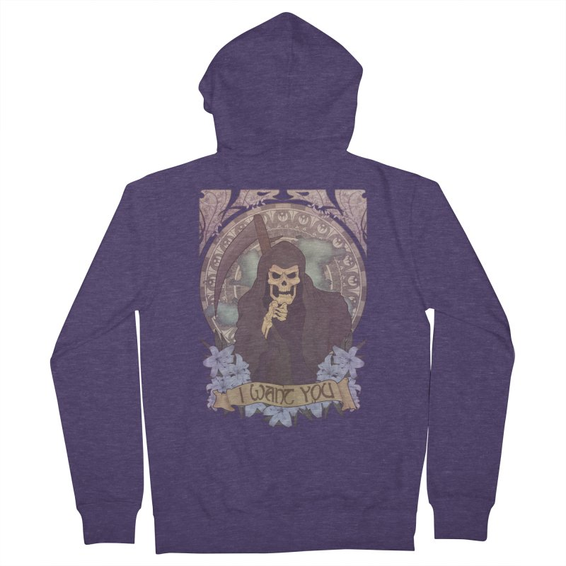 Death Nouveau Men's Zip-Up Hoody by Wolf Bite Shop