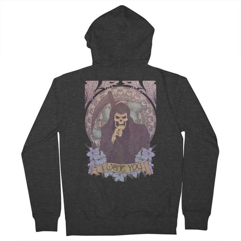 Death Nouveau Men's French Terry Zip-Up Hoody by Wolf Bite Shop