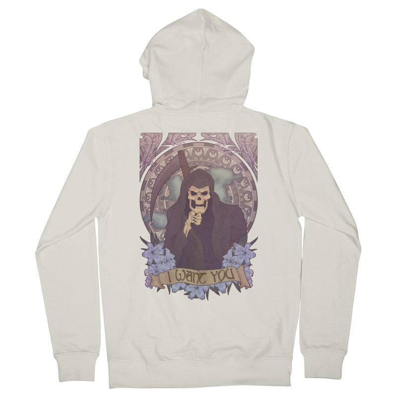 Death Nouveau Men's Zip-Up Hoody by Wolf Bite Shop