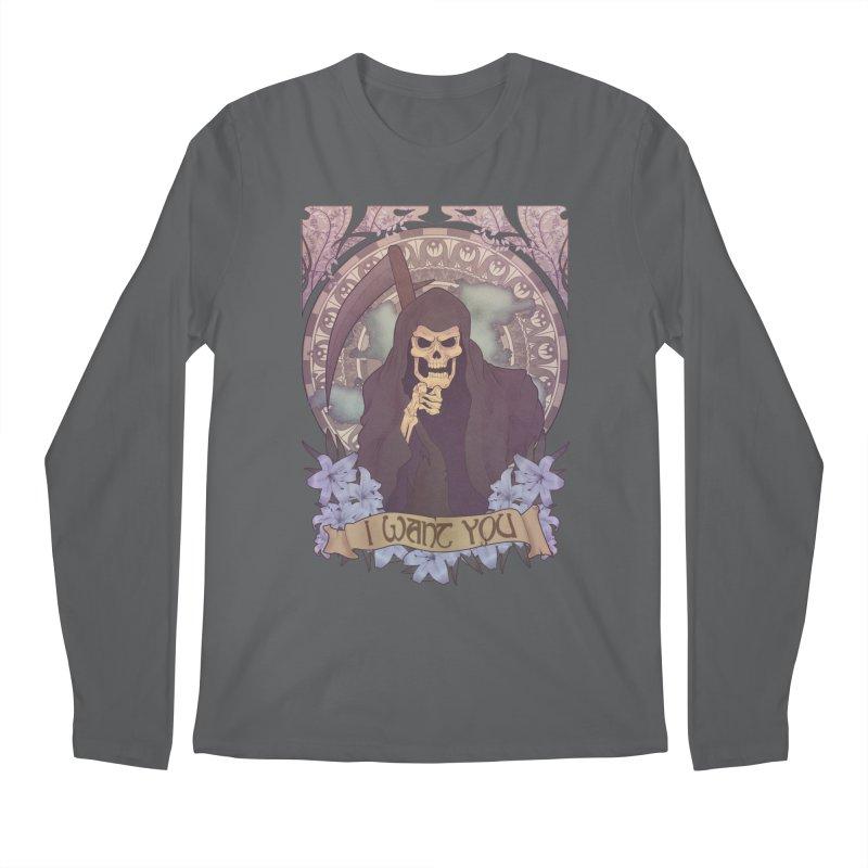 Death Nouveau Men's Longsleeve T-Shirt by Wolf Bite Shop