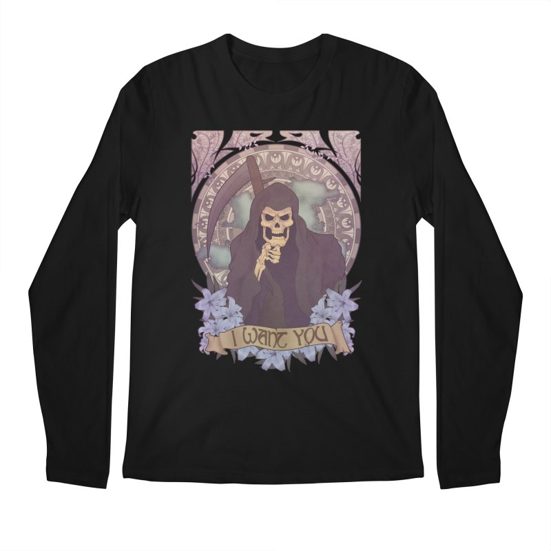 Death Nouveau Men's Longsleeve T-Shirt by Wolf Bite Shop