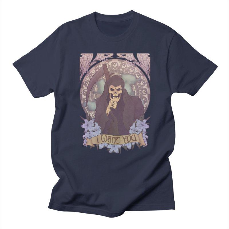 Death Nouveau Men's T-shirt by Wolf Bite Shop