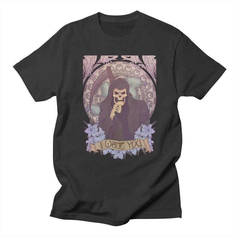 Death Nouveau Men's Regular T-Shirt by Wolf Bite Shop