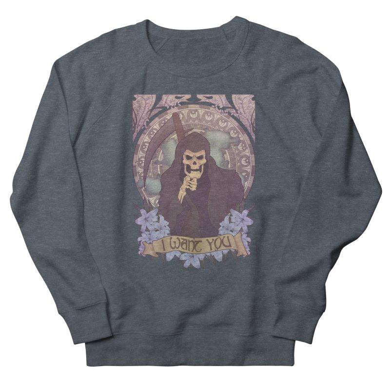 Death Nouveau Women's French Terry Sweatshirt by Wolf Bite Shop