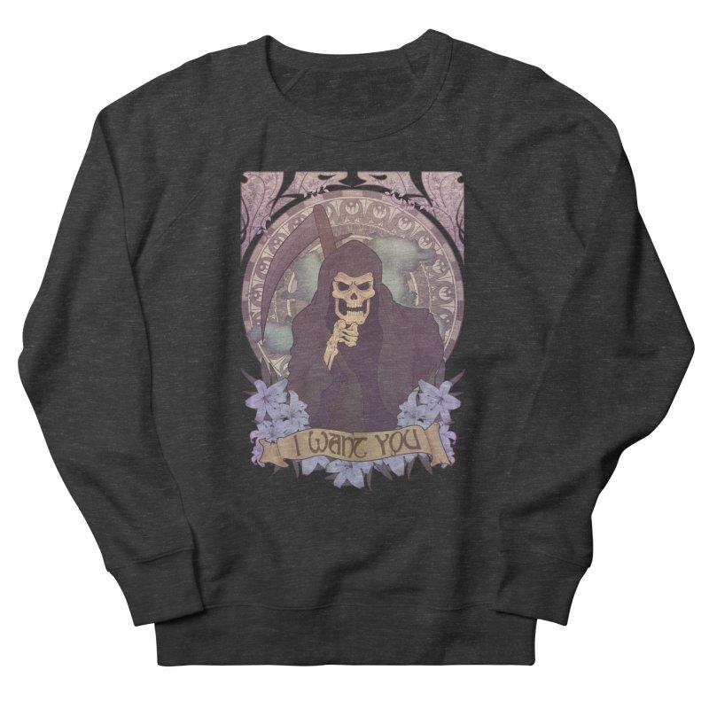 Death Nouveau Men's French Terry Sweatshirt by Wolf Bite Shop