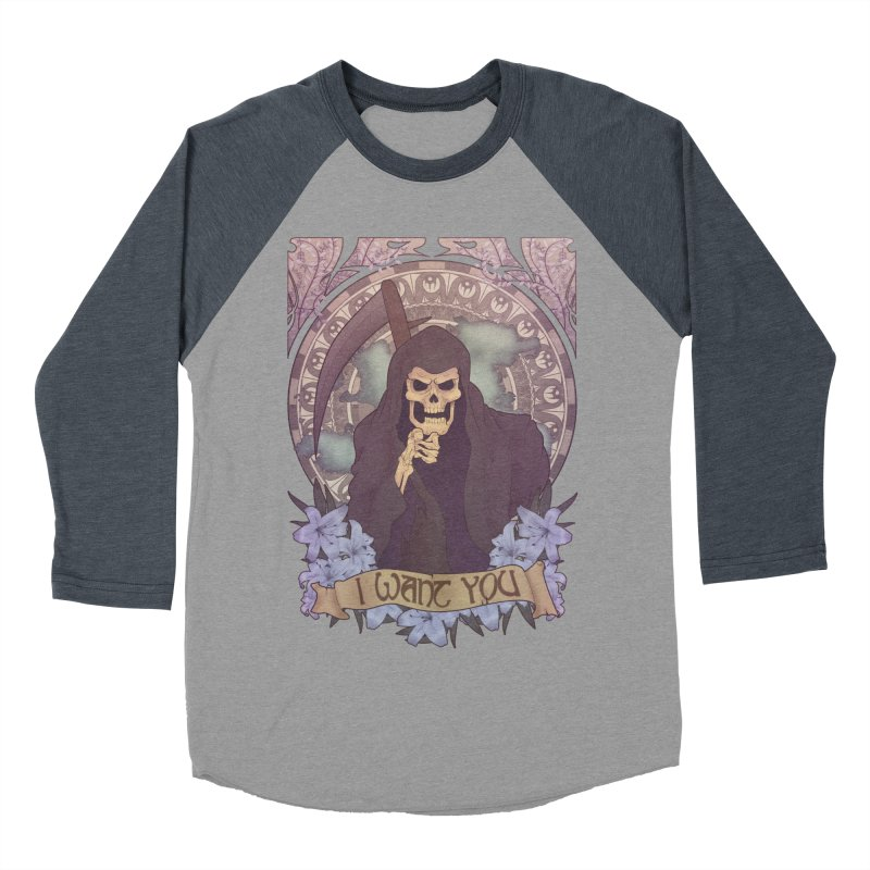 Death Nouveau Men's Baseball Triblend Longsleeve T-Shirt by Wolf Bite Shop