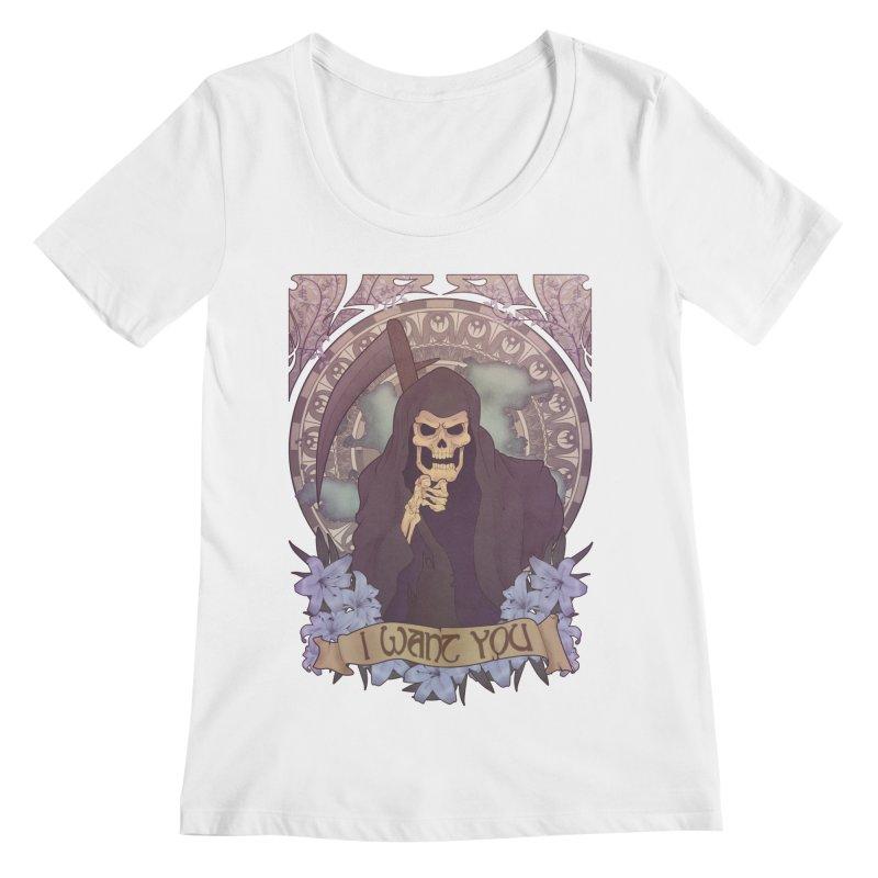 Death Nouveau Women's Scoopneck by Wolf Bite Shop