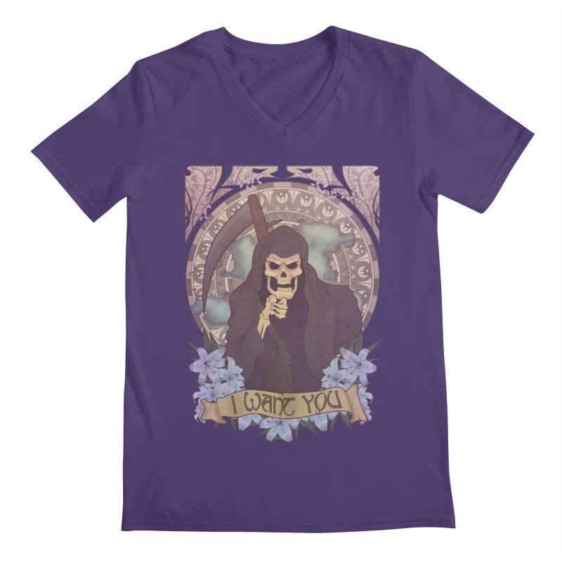 Death Nouveau Men's V-Neck by Wolf Bite Shop
