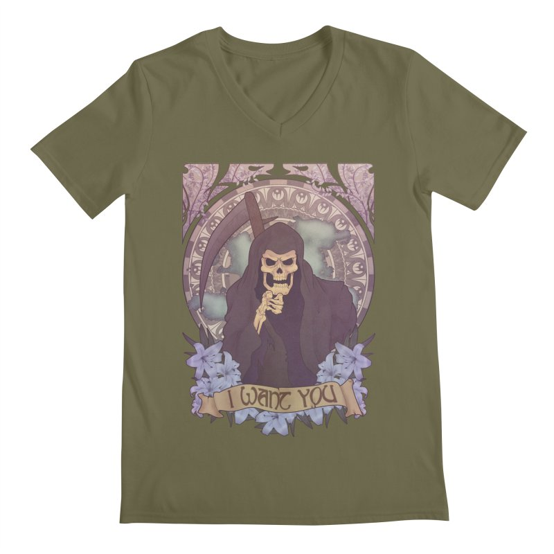 Death Nouveau Men's Regular V-Neck by Wolf Bite Shop