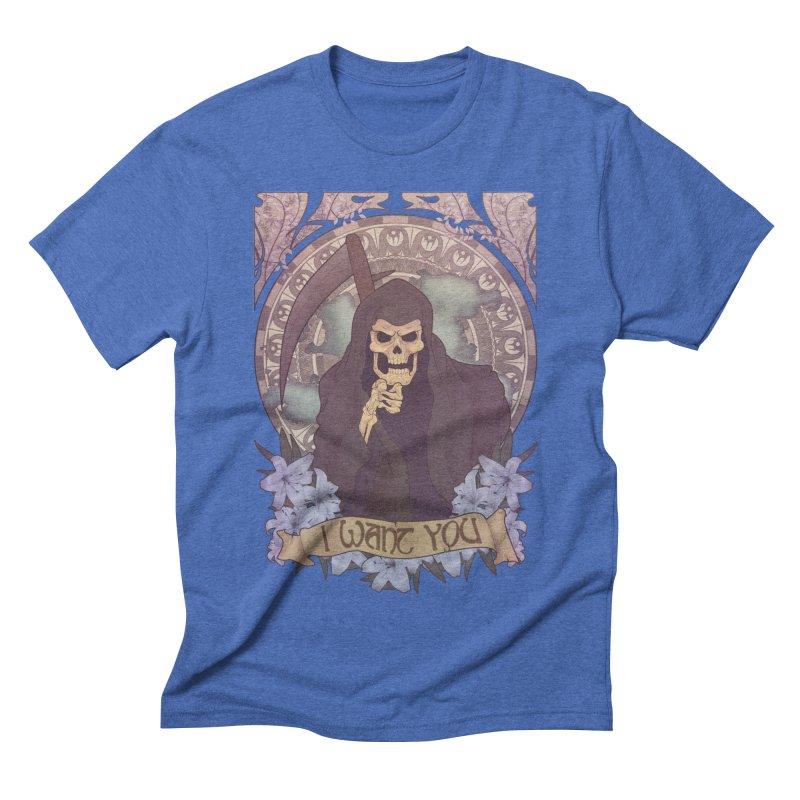 Death Nouveau Men's Triblend T-shirt by Wolf Bite Shop