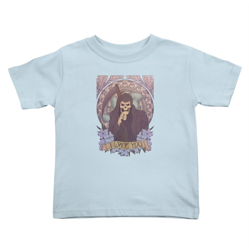 Death Nouveau Kids Toddler T-Shirt by Wolf Bite Shop
