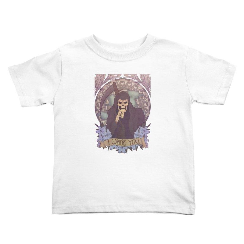Death Nouveau Kids Toddler T-Shirt by Wolf Bite Shop