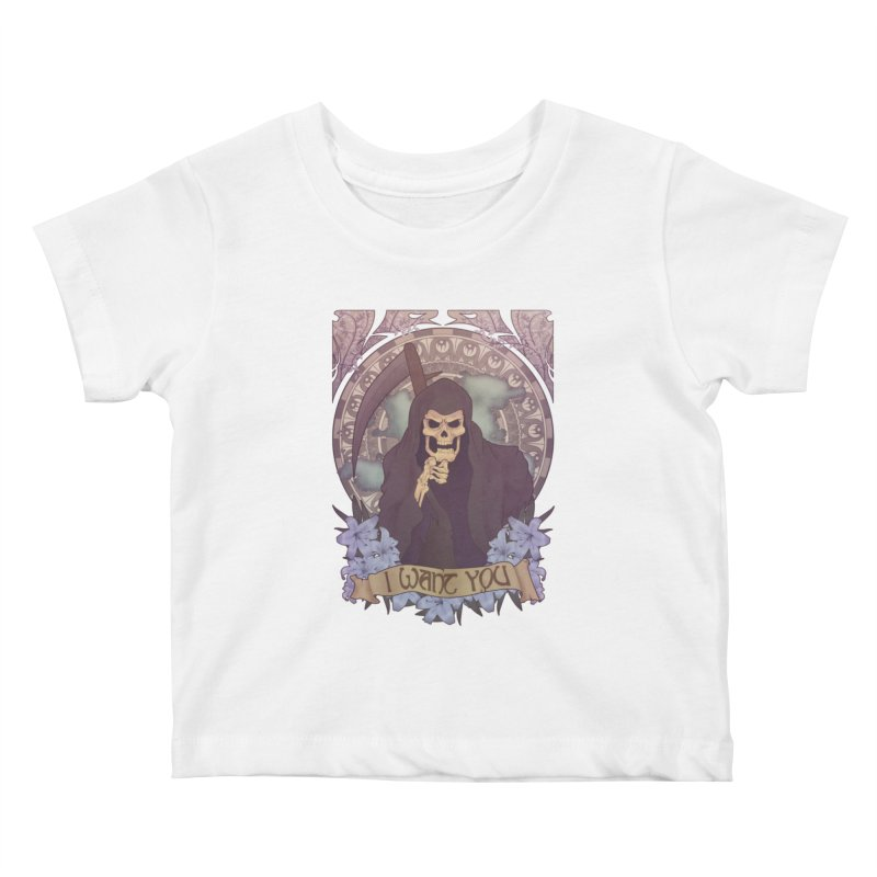Death Nouveau Kids Baby T-Shirt by Wolf Bite Shop
