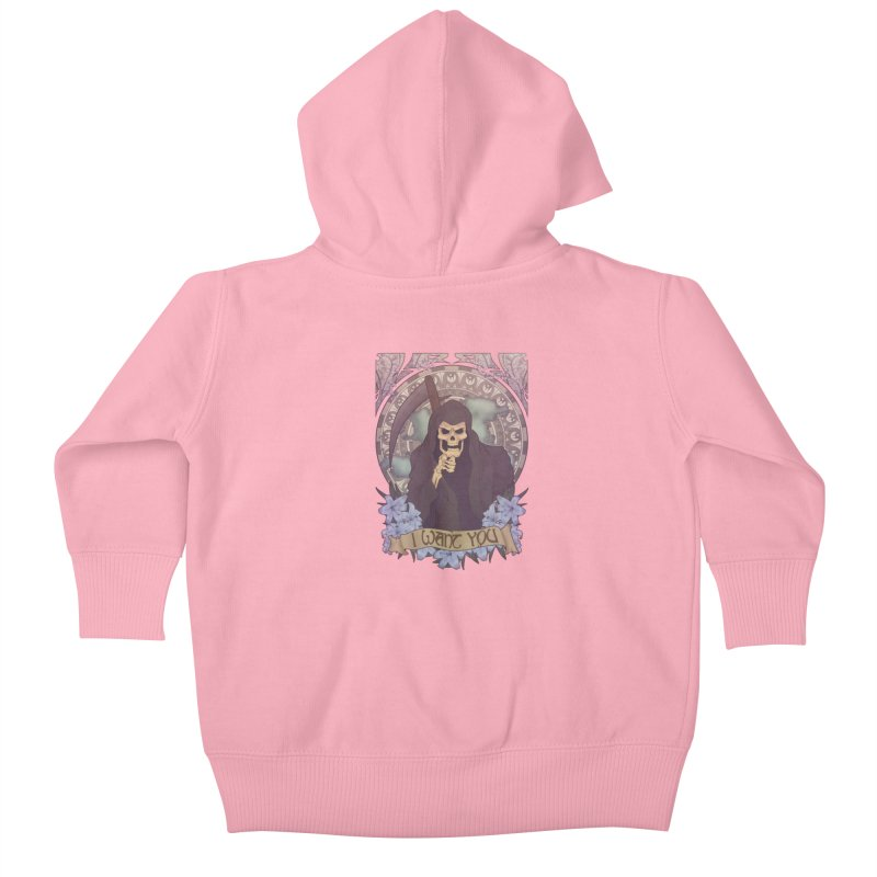 Death Nouveau Kids Baby Zip-Up Hoody by Wolf Bite Shop