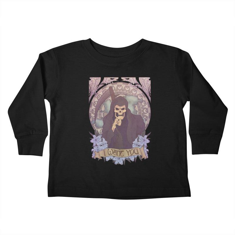 Death Nouveau Kids Toddler Longsleeve T-Shirt by Wolf Bite Shop