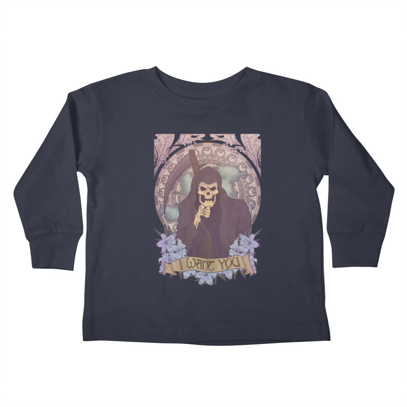 Death Nouveau Kids Toddler Longsleeve T-Shirt by Wolf Bite Shop