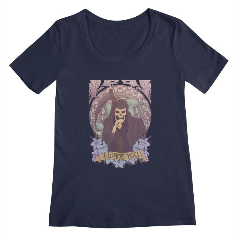Death Nouveau Women's Regular Scoop Neck by Wolf Bite Shop