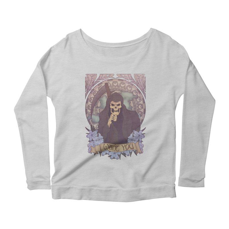 Death Nouveau Women's Scoop Neck Longsleeve T-Shirt by Wolf Bite Shop