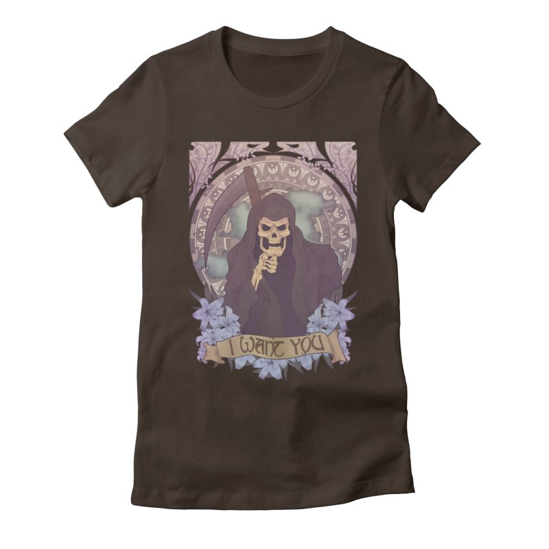 Death Nouveau Women's Fitted T-Shirt by Wolf Bite Shop