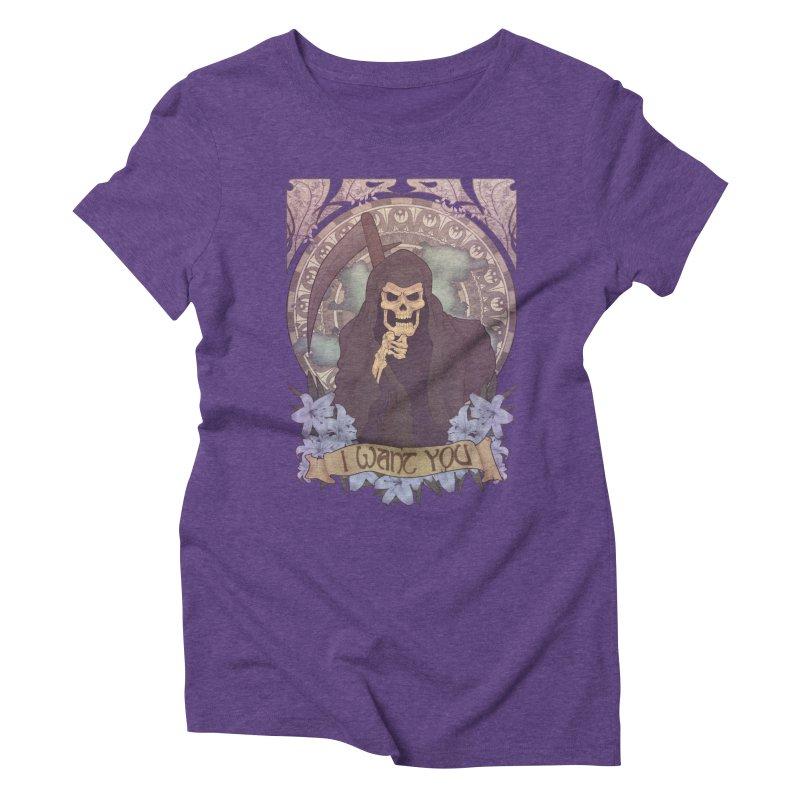 Death Nouveau Women's Triblend T-shirt by Wolf Bite Shop
