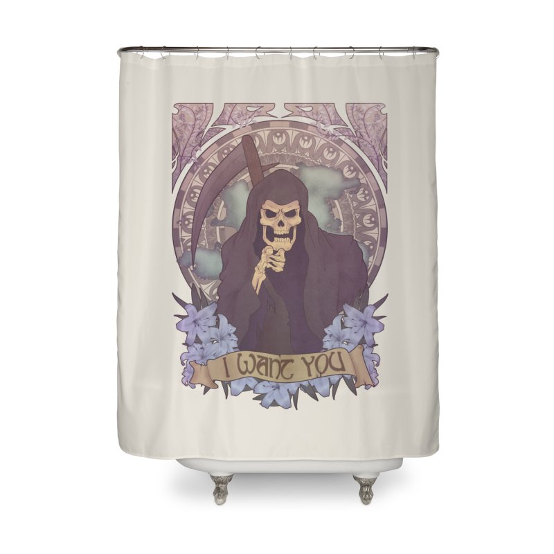 Death Nouveau Home Shower Curtain by Wolf Bite Shop