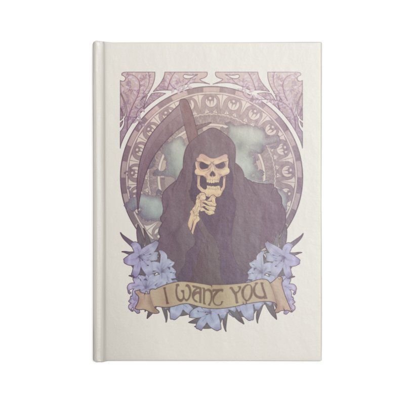 Death Nouveau Accessories Lined Journal Notebook by Wolf Bite Shop
