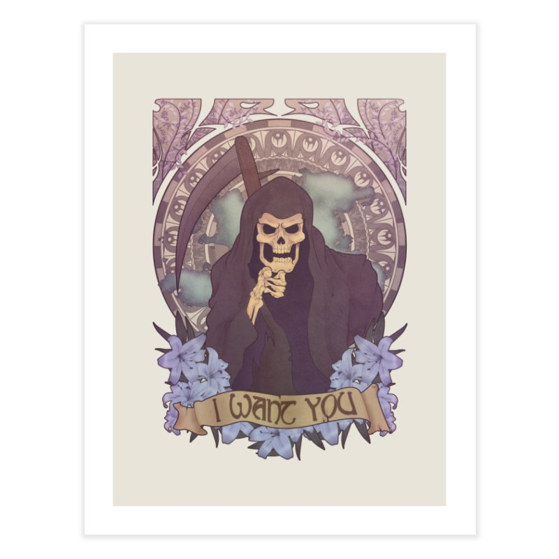 Death Nouveau Home Fine Art Print by Wolf Bite Shop