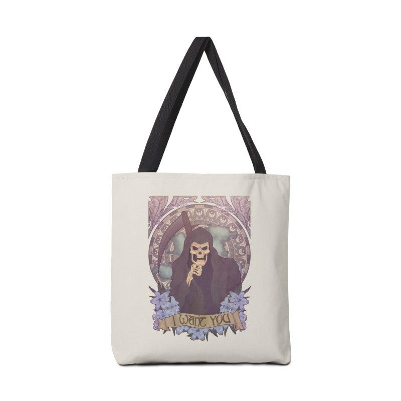 Death Nouveau Accessories Tote Bag Bag by Wolf Bite Shop