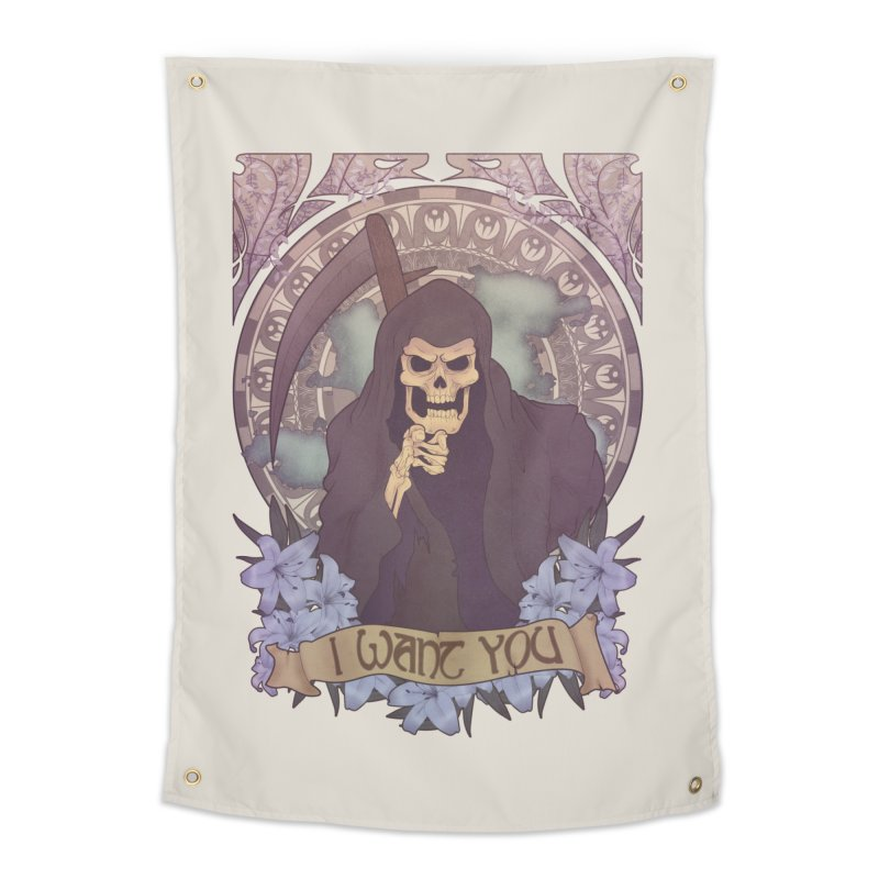 Death Nouveau Home Tapestry by Wolf Bite Shop
