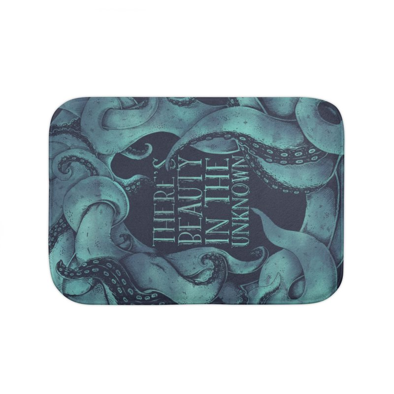 There's Beauty In The Unknown Home Bath Mat by Wolf Bite Shop