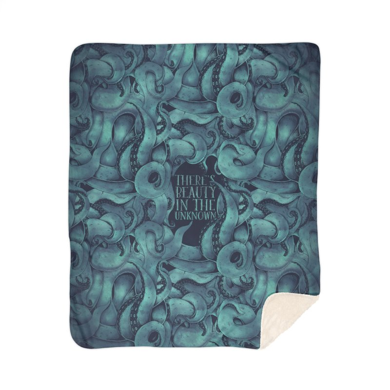 There's Beauty In The Unknown Home Sherpa Blanket Blanket by Wolf Bite Shop