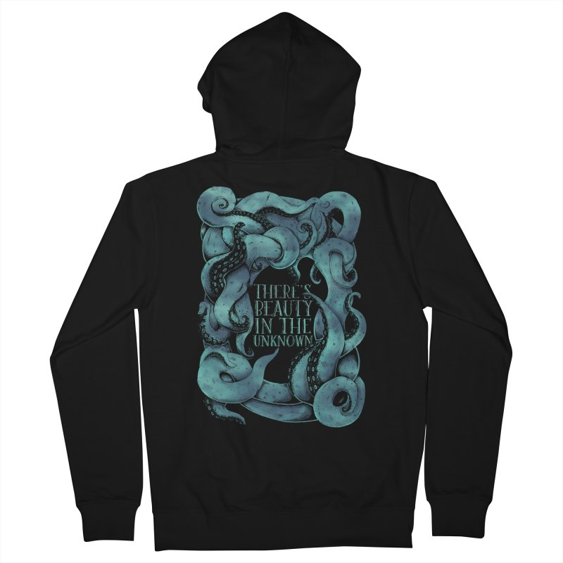 There's Beauty In The Unknown Men's French Terry Zip-Up Hoody by Wolf Bite Shop