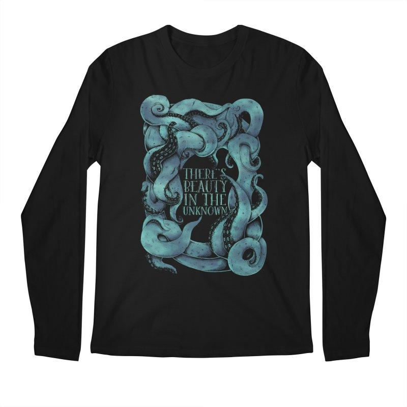 There's Beauty In The Unknown Men's Regular Longsleeve T-Shirt by Wolf Bite Shop