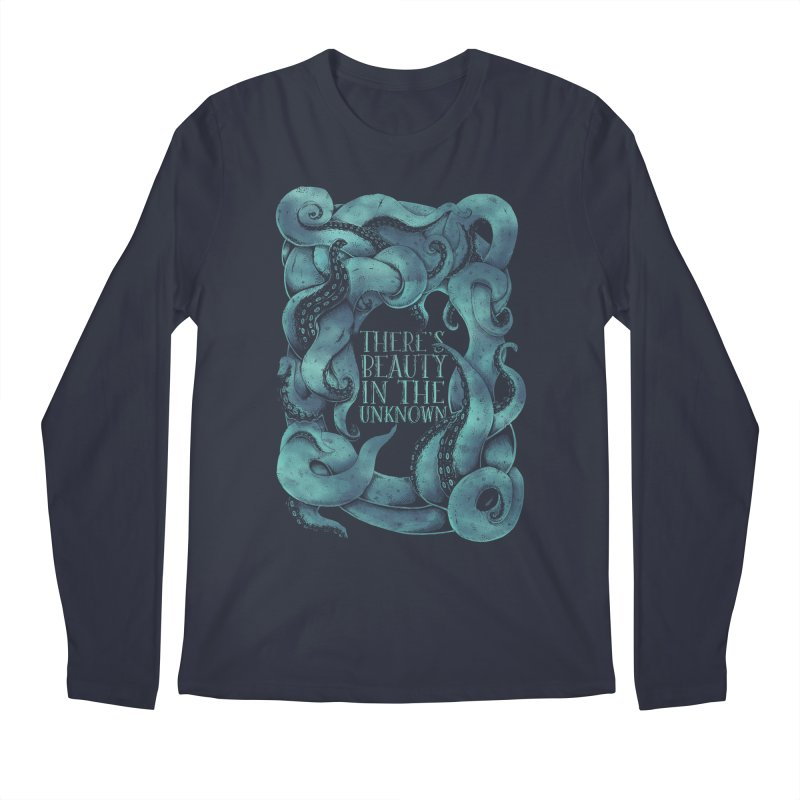 There's Beauty In The Unknown Men's Longsleeve T-Shirt by Wolf Bite Shop