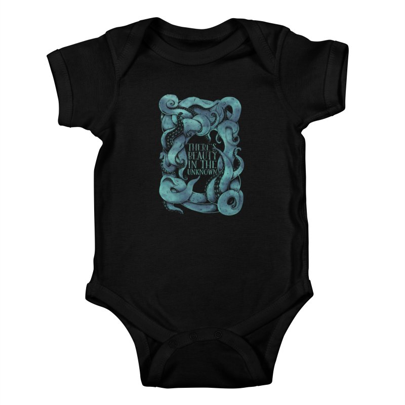 There's Beauty In The Unknown Kids Baby Bodysuit by Wolf Bite Shop