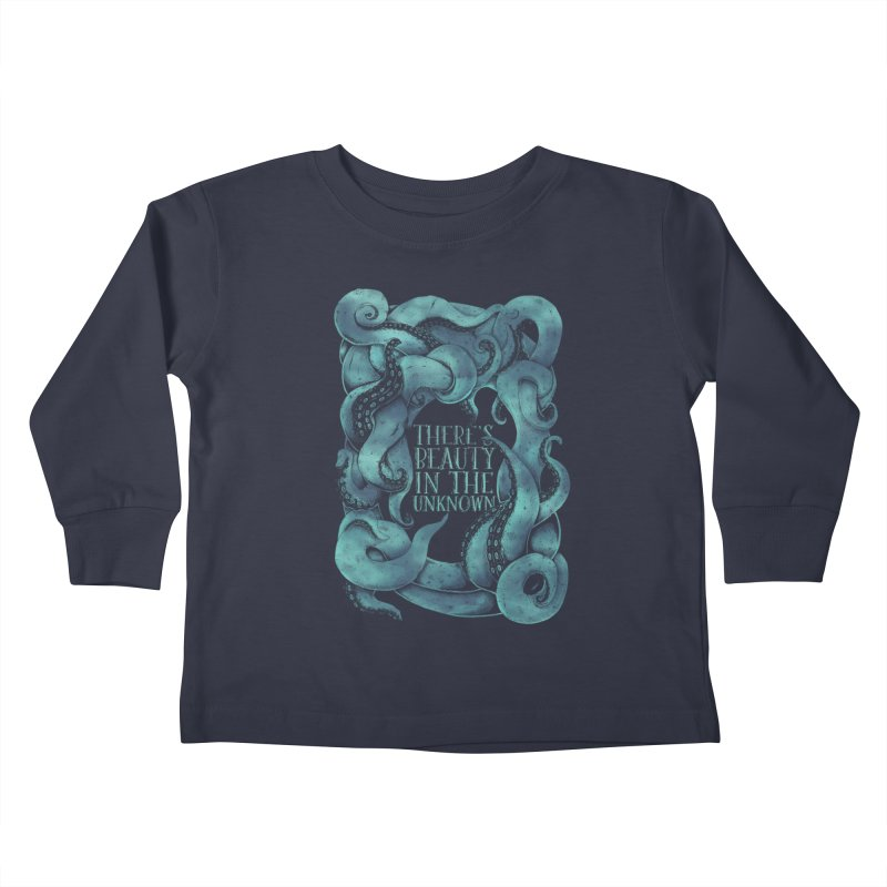 There's Beauty In The Unknown Kids Toddler Longsleeve T-Shirt by Wolf Bite Shop