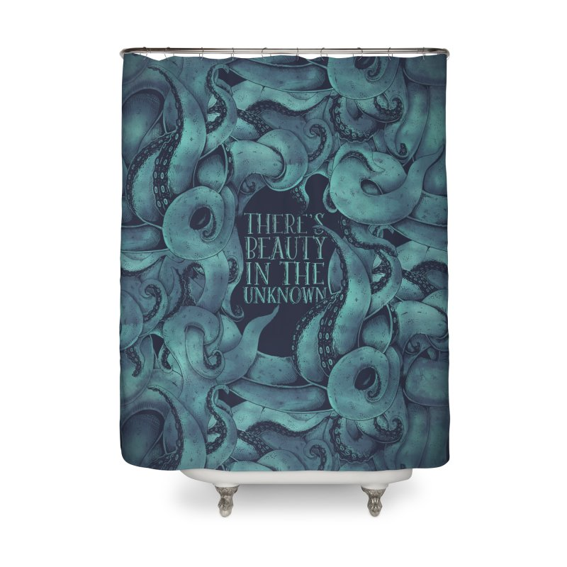 There's Beauty In The Unknown Home Shower Curtain by Wolf Bite Shop
