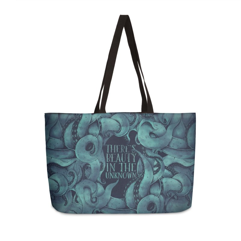 There's Beauty In The Unknown Accessories Weekender Bag Bag by Wolf Bite Shop
