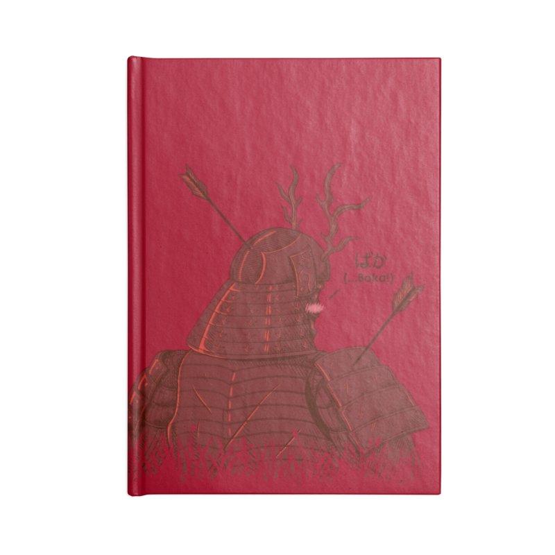 Tsundere Samurai Accessories Notebook by Wolf Bite Shop