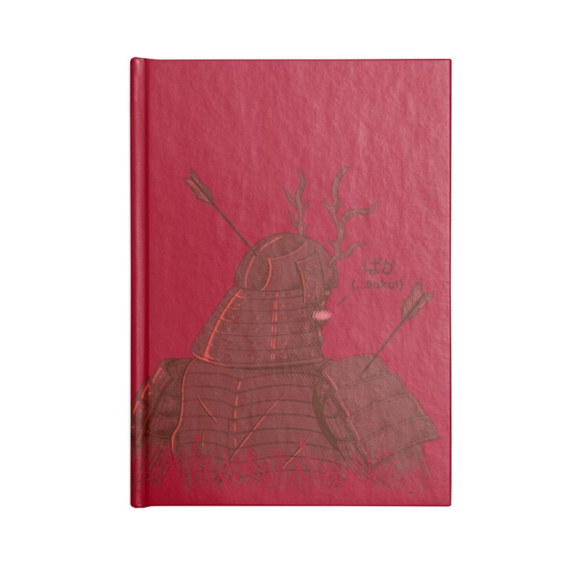 Tsundere Samurai Accessories Lined Journal Notebook by Wolf Bite Shop