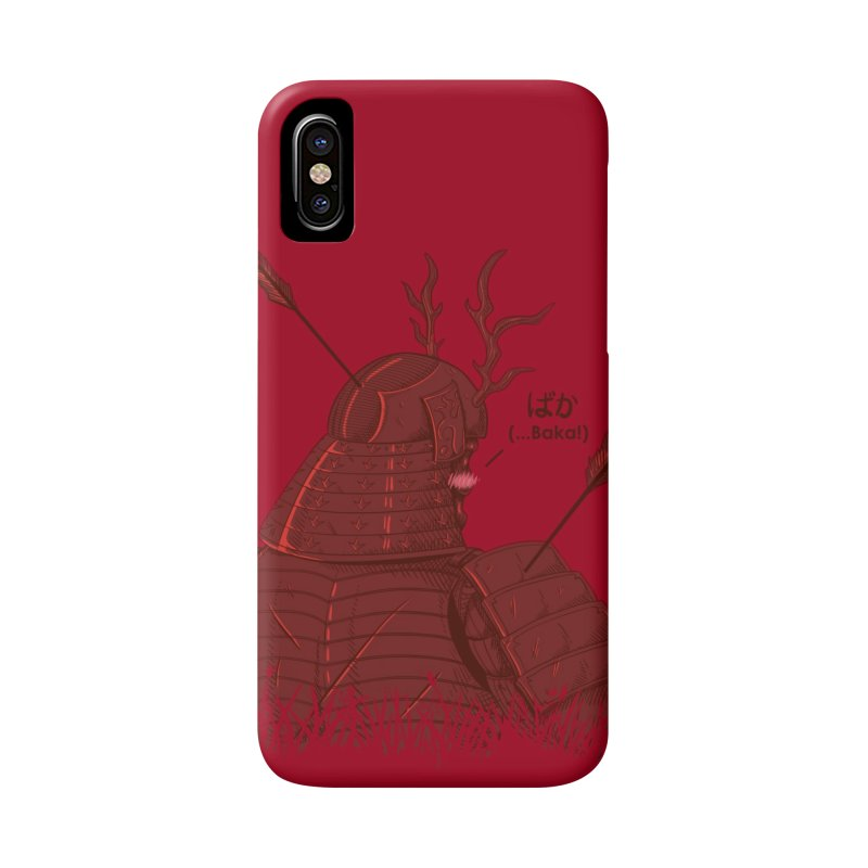 Tsundere Samurai Accessories Phone Case by Wolf Bite Shop