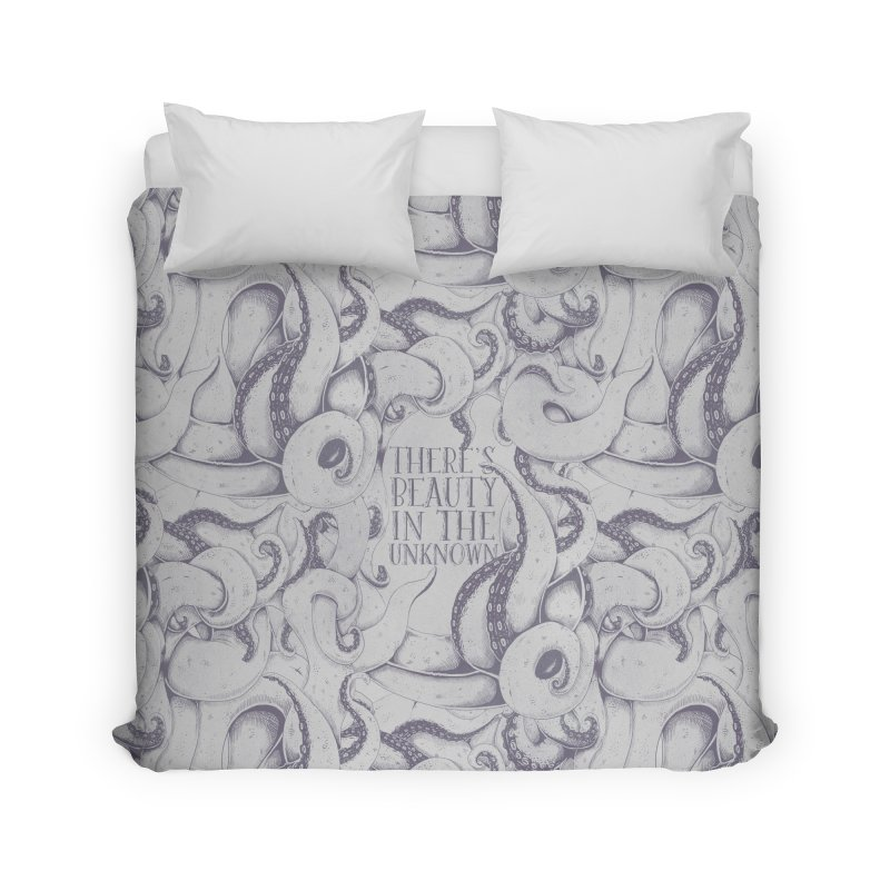 There's Beauty In The Unknown Home Duvet by Wolf Bite Shop