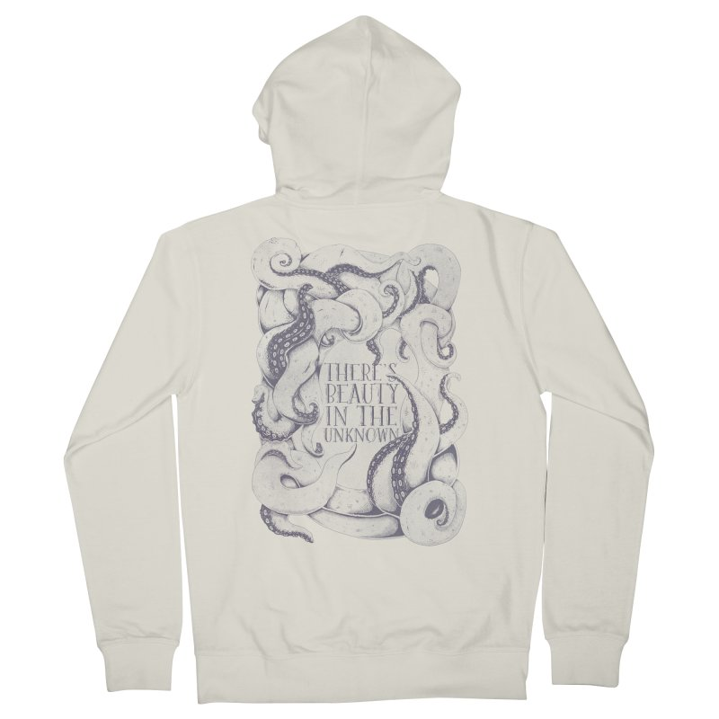 There's Beauty In The Unknown Women's French Terry Zip-Up Hoody by Wolf Bite Shop