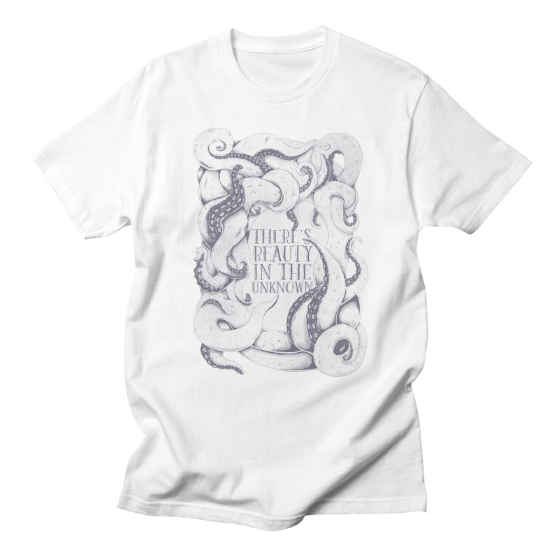 There's Beauty In The Unknown Men's Regular T-Shirt by Wolf Bite Shop
