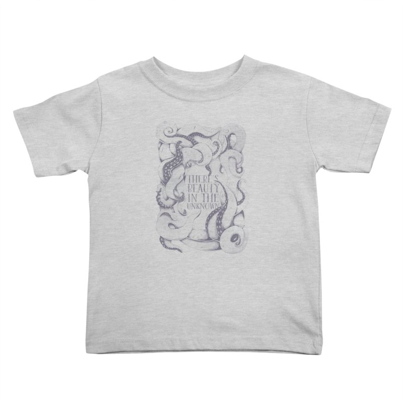 There's Beauty In The Unknown Kids Toddler T-Shirt by Wolf Bite Shop
