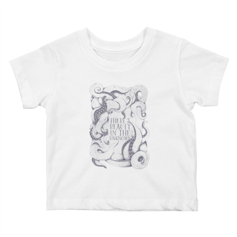 There's Beauty In The Unknown Kids Baby T-Shirt by Wolf Bite Shop